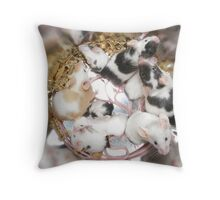 Canned Mice Throw Pillow