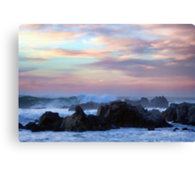 A Wavy Sunset Canvas Print