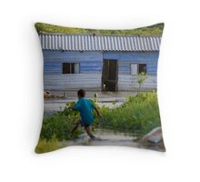 Flooding in Colombia Throw Pillow