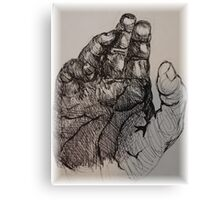 hand in ink Canvas Print