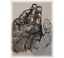 hand in ink Photographic Print