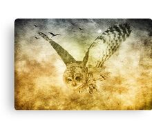 I Shall Return-great grey owl in flight Canvas Print