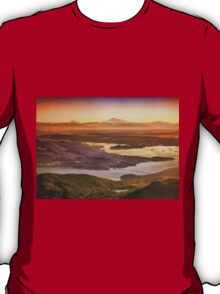Vancouver And Mt Baker Aerial View T-Shirt