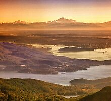 Vancouver And Mt Baker Aerial View by Eti Reid