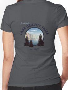 Lake Gravity Falls Women's Fitted V-Neck T-Shirt