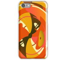 Orange and Brown Abstract Geometric Print iPhone Case/Skin