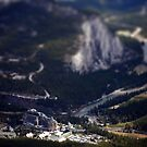 Tilt / Shift Banff Springs Hotel  by Andrew Dunwoody
