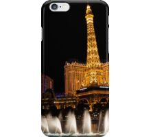 Vibrant Las Vegas - Bellagio's Fountains, Paris, Bally's and Flamingo iPhone Case/Skin
