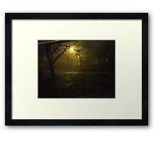 Night Scene During a Heavy Rain Framed Print