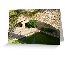 Palma Cathedral Courtyard Greeting Card