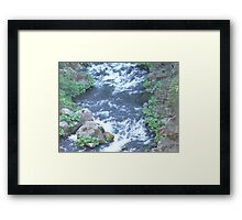 McCloud River, CA, Lower Falls Framed Print