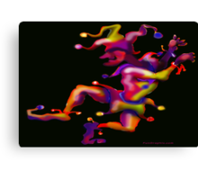 Mardi Gras Jester Canvas Print