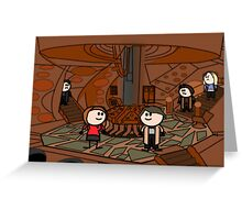 Doctor Who (inside the tardis) Greeting Card