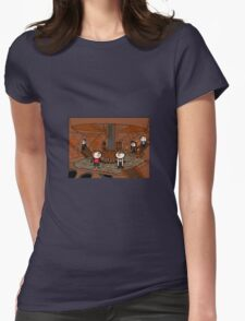 Doctor Who (inside the tardis) Womens Fitted T-Shirt