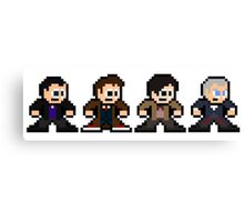 8-bit Dr. Who (9th 10th 11th & 12th Doctors) Canvas Print
