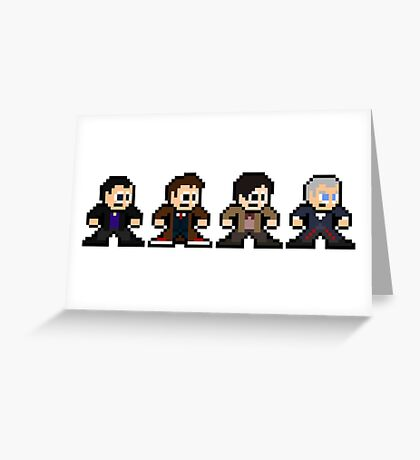 8-bit Dr. Who (9th 10th 11th & 12th Doctors) Greeting Card