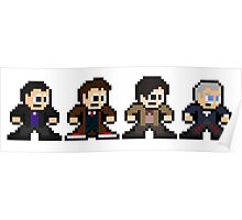 8-bit Dr. Who (9th 10th 11th & 12th Doctors) Poster
