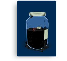 oil container (navy) Canvas Print