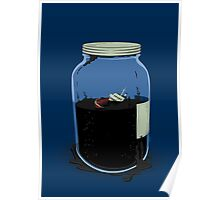 oil container (navy) Poster