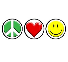 Peace Love Happiness Photographic Print