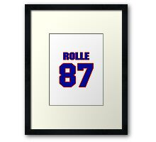National football player Butch Rolle jersey 87 Framed Print