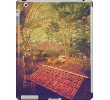 Wooden Gazebo and Small Shed in Forest iPad Case/Skin