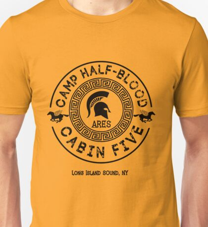 Percy Jackson - Camp Half-Blood - Cabin Five - Ares Unisex T-Shirt