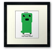 Minecraft Creeper Framed Print