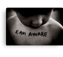 Domestic Violence Awareness Canvas Print