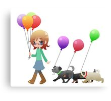 Doggies and Balloons [Commission] Canvas Print
