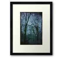 The Blue Path Framed Print