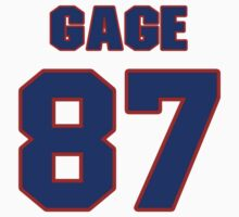 National football player Justin Gage jersey 87 by imsport