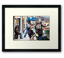Busy City Framed Print