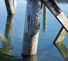 under the pier by Anne Scantlebury
