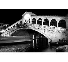 Speeding Water Taxi Photographic Print