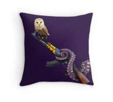 Owl K-47 + Octopus Throw Pillow
