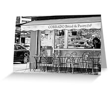 Cafe Greeting Card