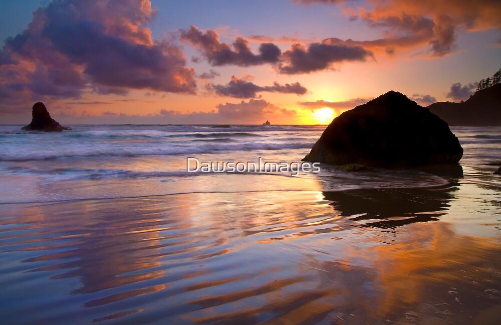 Indian Beach Sunset by DawsonImages