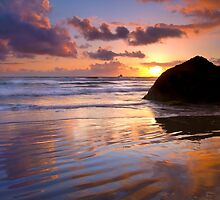Indian Beach Sunset by DawsonImages