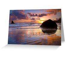 Indian Beach Sunset Greeting Card
