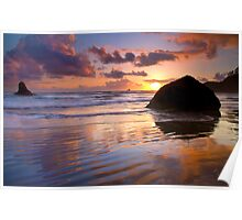Indian Beach Sunset Poster