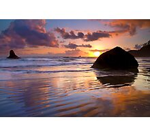 Indian Beach Sunset Photographic Print