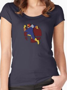 Smash Bros: Captain Falcon Women's Fitted Scoop T-Shirt