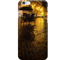 Golden Glow - Night on the Spanish Steps Piazza in Rome, Italy iPhone Case/Skin