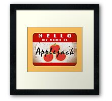 Hello My Name is Applejack Framed Print