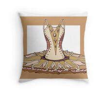 Ballet Tutu October Throw Pillow