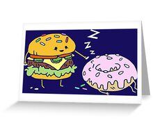 Cheeseburger Pranks Doughnut Greeting Card