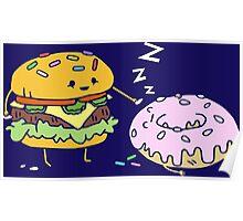 Cheeseburger Pranks Doughnut Poster
