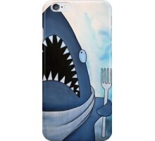 Ready to Eat, hungry great white shark iPhone Case/Skin
