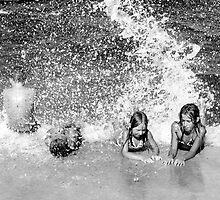 Kids on the beach  by Olivera Jelaca Bartoli